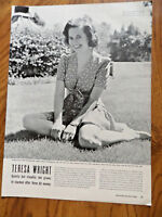 1942 Movie Article Ad Movie Hollywood Star Teresa Wright