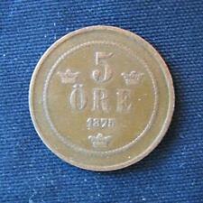 Munt Zweden/Sverige: 5 Öre 1875 in zeer fraai