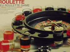 Roulette-Drinking-Party Game  16 shot glasses 2 balls & Roulette Wheel