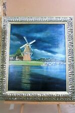 Original Oil Painting ( By Gelbrig Ann Menser) De Hoop, Dokkum  Friesland 1982