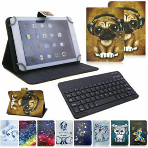 Universal Keyboard Printed Leather Case Cover For 10/10.1 inch Android Tablet PC