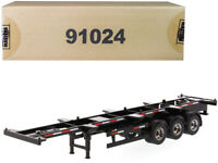 40' Skeleton Trailer Black Transport Series 1:50 Model Diecast Masters - 91024*