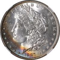 1887-P Morgan Silver Dollar NGC MS66 Great Eye Appeal Strong Strike