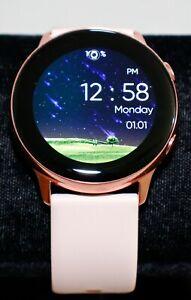 Samsung Galaxy Watch Active 2019 SM-R500 4GB Smartwatch Rose Gold Works Great!