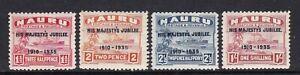 Nauru - SG 40/43 - m/m - 1935 - Silver Jubilee