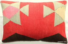(40*60cm, 16*24cm) Textured handmade pillow cover Morrocan tribal red