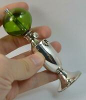 Rare Novelty Victorian Miniature Solid Silver Oil Lamp Lighter Piece