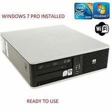 HP Slim Small Fast Intel Core 2 Duo Computer CDDVD WIFI Cheap Windows 7 PRO PC
