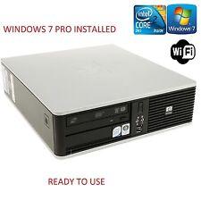 HP Slim Pequeño Rápido Intel Core 2 Duo Ordenador Cddvd Wifi Barato Pc Windows 7 Pro
