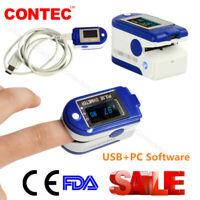 CMS50D+ 24 Hours Fingertip Pulse Oximeter USB Port SPO2 PR Blood Oxygen Meter+CD