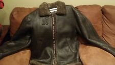 Men's Walter Davoucci Genuine Shearling Leather Bomber's Jacket -  M, no hood