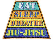 Jiu Jitsu BJJ Gi Patch EAT SLEEP BREATHE Jiu Jitsu Gift IRON-ON Stocking Stuffer