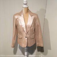 Worthington Leather Blazer Jacket, Size Large