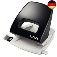 Leitz Locher, 25 Blatt, Anschlagschiene mit Formatvorgaben, Metall,  (schwarz)
