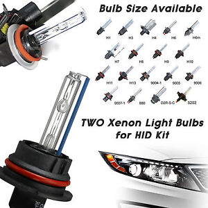 Two Xenon HID Light Bulbs 35 W & 55 W H1 H3 H7 H8 H9 H10 H11 9005 9006 9012 5202