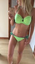 victoria secret Neon Green Push Up Bikini S/ 32D