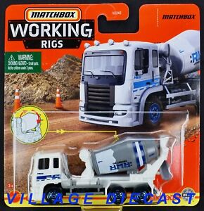 2021 Matchbox Working Rigs #8 Cement King HD™ WHITE / :RWR CEMENT CO. / MOC