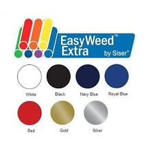 """Heat Transfer Vinyl Siser EasyWeed Extra 15"""" x 1 Foot 2 Color Choices"""