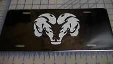 Dodge Ram car/truck Tag license plate (white logo)