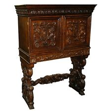 Antique 19th C. American Carved Cabinet c. 1885 #4021