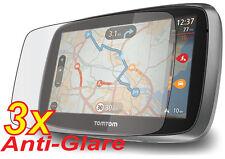 """3x Anti-Glare Matte LCD Screen Protector Guard Film Tomtom GO 500 5000 5.0"""" GPS"""