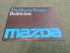 September 1976 MAZDA UK RANGE BROCHURE 1000 1300 616 818 929 B1600 1600 PICKUP