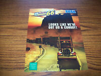 SEGA KING OF ROUTE 66 ARCADE VIDEO GAME FLYER BROCHURE