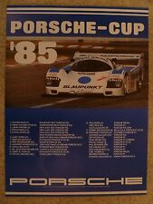 1985 Porsche 956 Porsche Cup Victory Showroom Advertising Poster RARE!! Awesome