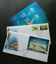 Malaysia Brunei Joint Issue Unique Marine Life 2006 2007 Fish Ocean (FDC pair)