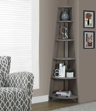 Corner Bookcase Shelving Unit Plant Stand Tower Decorative Tall Reclaimed Wood