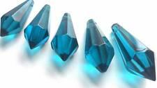 10 Chandelier Crystal Prisms Blue Zircon 38mm Icicle Suncatcher Spear U Drop