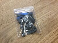 A018 2x Lego Light Bluish Grey 2x2 Tiles with Stud P//N 18674 NEW