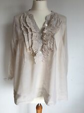 Women's Cotton Striped H&M Blouse Size 10 Cheap Spring/Summer