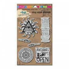 Stampendous Curiosity Andy Skinner Cling Rubber Stamps eye steampunk cardmaking