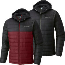 """New Mens Columbia """"White Out II"""" Omni-Heat Insulated Hooded Winter Jacket"""