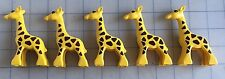 Lot of 5 Lego Duplo Giraffe Figures Approximately 3 1/2 Inches High