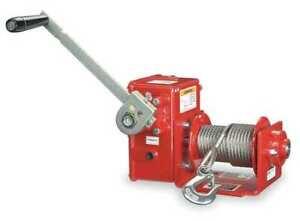 Thern 4Wm2 Hand Winch,Worm Gear,W/Brake,2000 Lb.