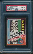 1975 TOPPS BASEBALL CELLO PACK GEORGE BRETT ROOKIE #228 ON BACK PSA 8 NM-MT