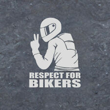 1x 14*19cm Respect For Bikers Sticker Car Window Door Body Decor Accessories