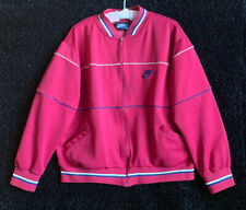 VTG 80s Nike Blue Tag Tracksuit Red Windbreaker Track Jacket Sz XL