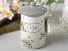 KATIE ALICE Cottage Flower COFFEE CANISTER Shabby Chic STORAGE JAR Creative Tops