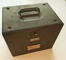(3)  BRUMBERGER  16 MM  FILM STORAGE BOXES  Steel   each holds  9 films