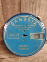 Vintage Add O Bank Coin Bank Cambria Co.No Key