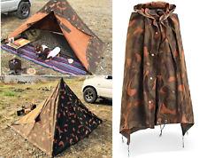 Hungarian Military Woodland Camo Poncho Shelter Zeltbahn Teepee Tipi Tent