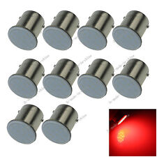 10X Red 1156 89 Ba15s 12 chips COB LED Turn Signal Rear Light Car Bul Lamp D070