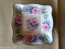 Vintage FOLEY BONE CHINA ENGLAND CORNFLOWER SQUARE DISH BOWL