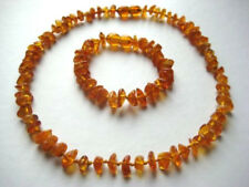 SET OF BALTIC AMBER CHILDREN'S NECKLACE AND BRACELET
