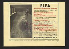 HALLE/SAALE, Werbung 1939, R. Fölsche ELFA Zellstoff-Büttenentleerung