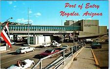 NOGALES, AZ Arizona   PORT of ENTRY   c1960s  Cars   Postcard