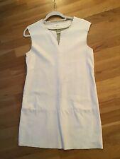 Vicolo Soft White Leather Mini Dress Small Size 8